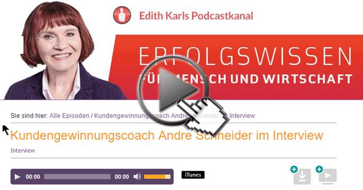 Andre Schneider zu Gast bei Edith Karl
