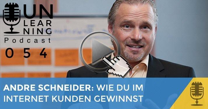 Andre Schneider zu Gast bei Gunnar Schuster Unternehmer und Podcaster
