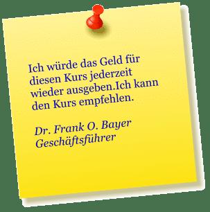 Dr. Frank O. Bayer