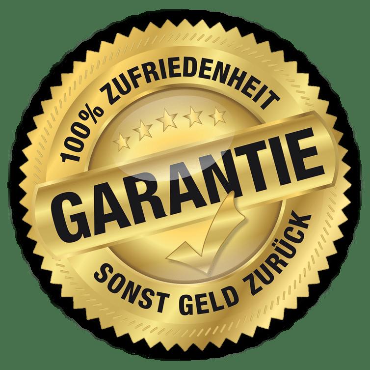 Geld zurück Garantie - 100% Zufriedenheit