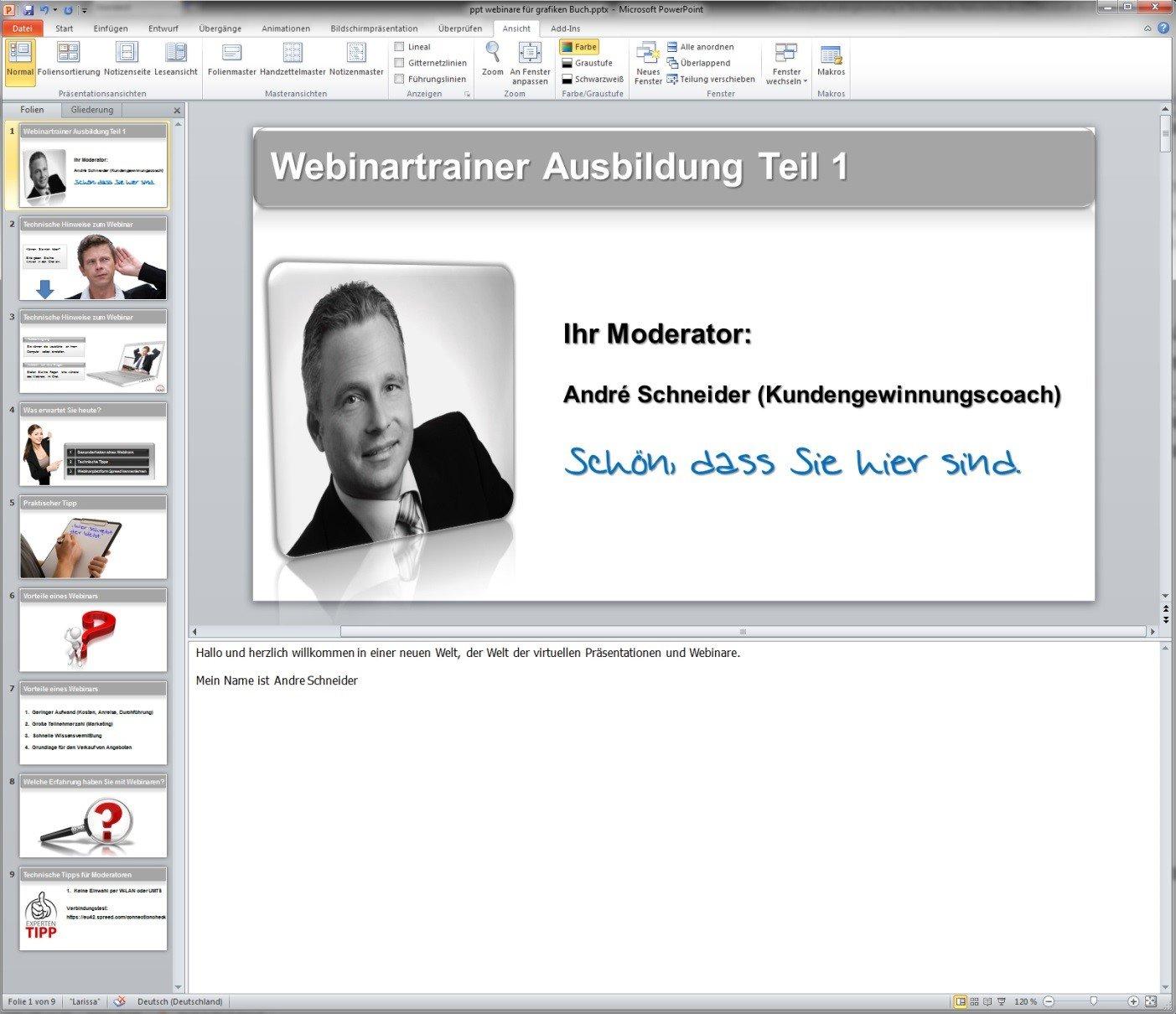 Webinar Trainer Ausbildung